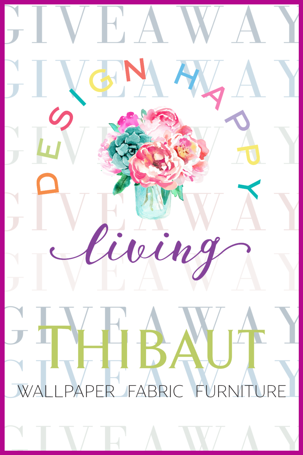 Enter to win the Design Happy Living giveaway with Thibaut! Win a 4000.00 msrp gift certificate to thibautdesign.com!